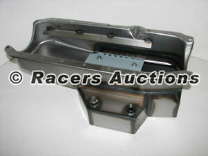1986-up-Chevy-350-Champ-Style-Circle-Track-Oil-Pan-Raw-1pc-Rear-Seal-Vortec-5-7