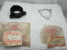 NOS New OEM Kawasaki Exhaust Pipe Muffler Holder Clamp & Gasket F5 F9 18062-002