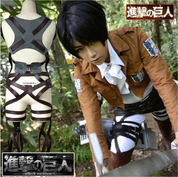 Cosplay Attack On Titan Shingeki no Kyojin Belt Straps Harness Anime Costume
