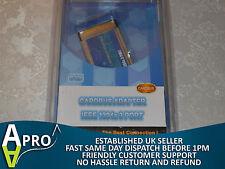 NOS - STLAB C-121 PCMCIA CARD 3 X FIREWIRE LAPTOP NOTEBOOK 32 BIT - UK SELLER