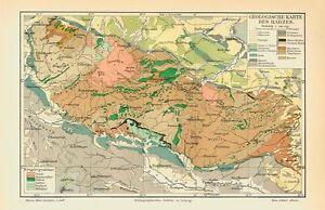 Harz Gebirge Geologische Karte Deutschland Orig