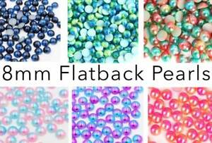Flatback Pearls Multi Color