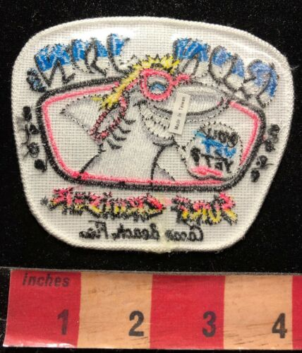 RON JON'S SURF SHOP Advertising Patch Surfer Shark With Pink Glasses 00WH