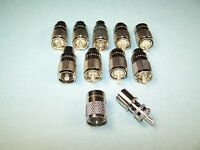 10 Amphenol Pl-259 Coax Connectors 83-1sp-15rfx Rg8, 213, 214, Lmr-400 Etc -