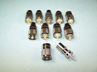 10 Amphenol Pl-259 Coax Connectors 83-1sp-15rfx Rg8, 213, 214, Lmr-400 Etc -