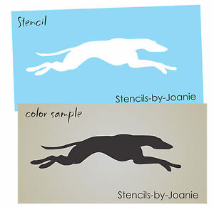 Image Is Loading Running Greyhound Race Dog STENCIL Animal Canine Shape