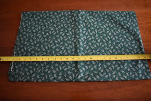 Tan Leaves on Green Quilting Cotton N1606 By 1//2 Yd Marcus Brothers