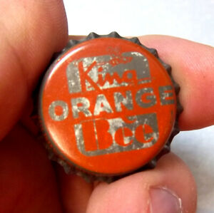 Unused Cork Composition King Bee Orange CrownBottle Cap 1960/'s Grouping of Four 4