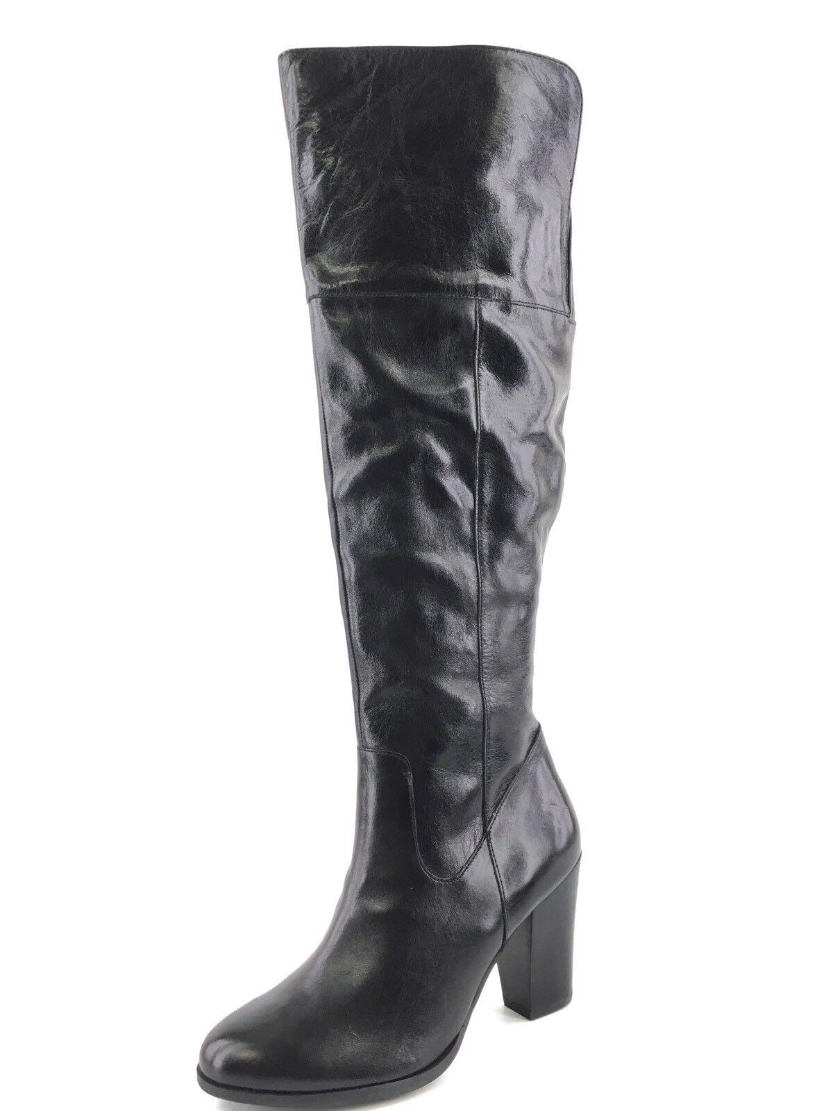 Adam Tucker Me Too Harte 6 Cuero Negro botas Hasta Hasta Hasta La Rodilla Para Mujer Talla 7 M   promocionales de incentivo