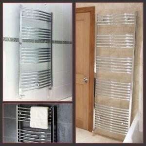Chrome-Curved-Heated-Bathroom-Central-Heating-Towel-Rail-Rad-Radiator-Warmer