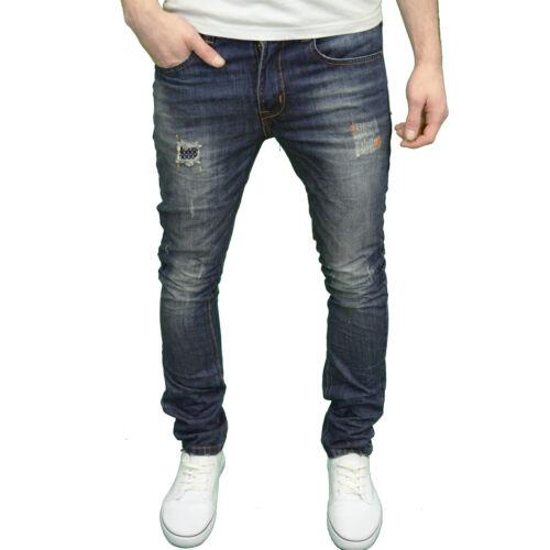 BNWT Soulstar Mens Designer Branded Slim Fit Ripped Distressed Fashion Jeans