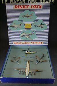 DINKY-TOYS-FRANCE-Coffret-avions-REF-60-Boite