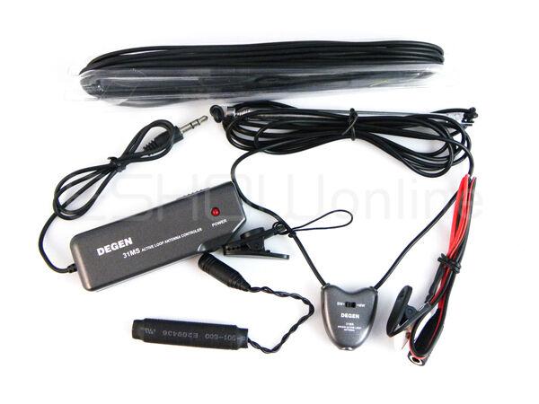 Indoor Active Soft Loop Antenna for MW&SW Radios with Antenna Jack DEGEN DE31MS