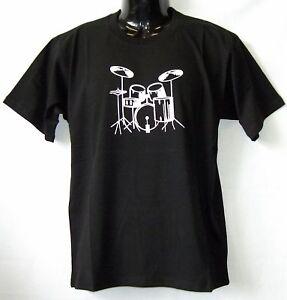 T-Shirt-Drums-Schwarz-S-XXL