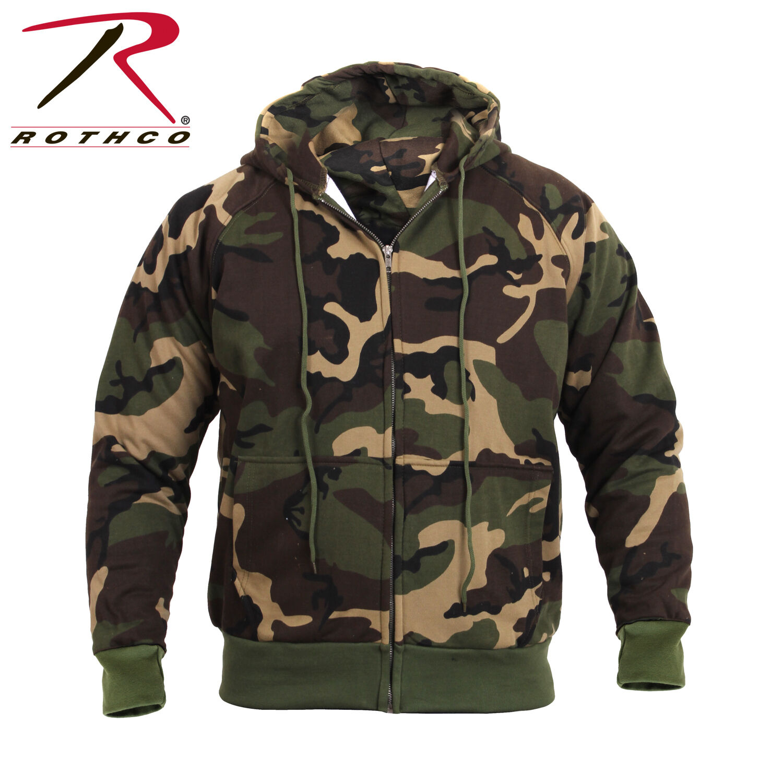 Rothco 6262 Thermal Lined Hooded Sweatshirt - Woodland Camo