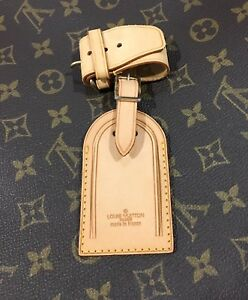 Louis-Vuitton-Leather-Name-Tag-w-Strap-for-Keepall-100-Authentic
