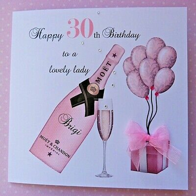 Details About Personalised Handmade Birthday Card Champagne 18th 21st 30th Daughter Friend