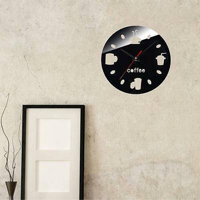 DIY Wall Clocks Modern Coffee Cups Design Home Decor Living Room Kitchen Clock