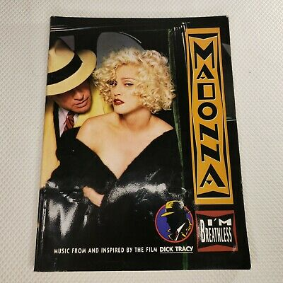 """MADONNA /""""BREATHLESS/"""" PIANO//VOCAL//GUITAR CHORDS MUSIC BOOK BRAND NEW ON SALE!!"""