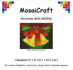 """Mosaicraft Pixel Craft Art Mosaïque Kit /""""Noël Cloches de pixelhobby"""
