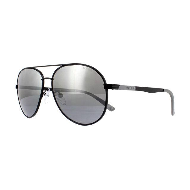 086c7a2725 Police Sunglasses Court 1 SPL344 531X Semi Matt Black Grey Silver Mirror