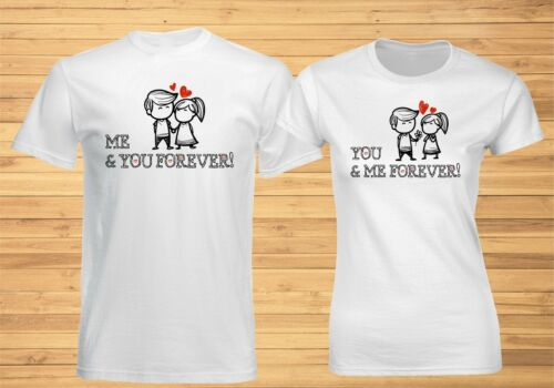 Me You Forever Couple Matching T shirt Valentine Christmas Husband Wife Gift Tee