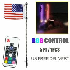 Sandrail 4ft LED Whip PAIR Multi-Color Flag Antenna Offroad 4x4 ATV Side AURA