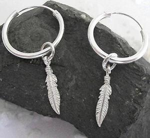 Ohrringe Feder Indianer Cowboys Western Damen Ohrschmuck Modeschmuck Silber