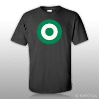 Nigerian Air Force Roundel T-shirt Tee Shirt Free Sticker Naf Nigeria Nga Ng