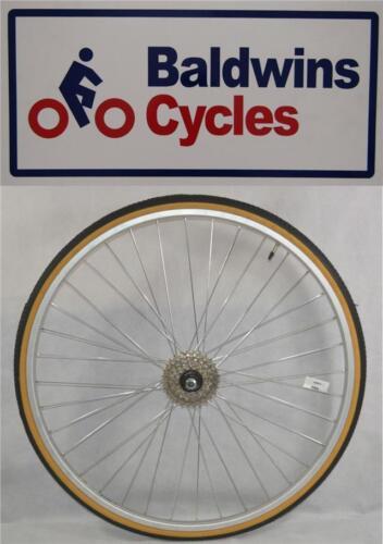 27 x arrière 1 1//4 roues vélo 5 vitesse roue libre amber mur pneu /& tube