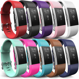 For-Fitbit-Charge-2-Wrist-Straps-Wristbands-Replacement-Silicone-Sports-Strap