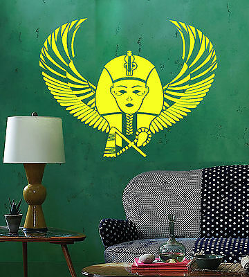 Vinyl Wall Decal Egyptian Pharaoh Wings Egypt Ancient World Stickers ig4764