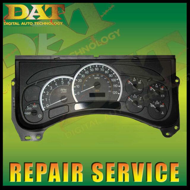 Hummer H2 Speedo Instrument Gauge Cluster Repair Service Stepper Lights LCD