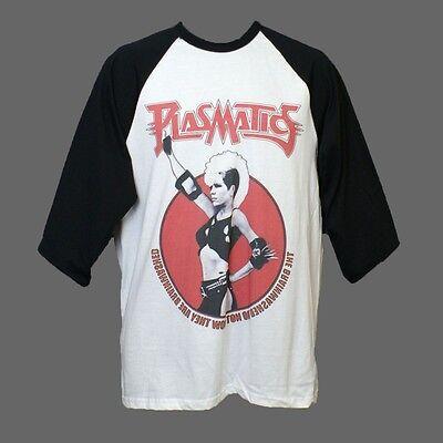 Plasmatics Metal Punk Rock Double Sided Baseball Style 3/4 Sleeve T-shirt XL