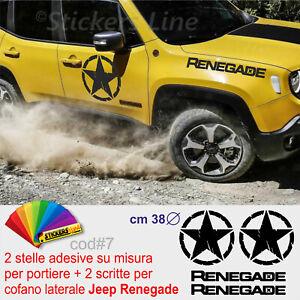 Adesivi-Stella-Militare-portiere-Jeep-scritte-Renegade-laterale-cofano-cod-7