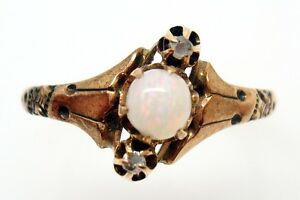 10K-ROSE-GOLD-RING-WITH-A-ROUND-GENUINE-NATURAL-OPAL-AND-TWO-DIAMONDS-415