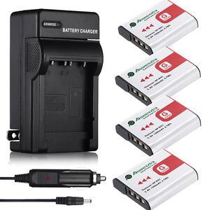 Black W215 Ladegerät W220 + Akku NP-BG1//FG1 für Sony Cyber-shot DSC-W210