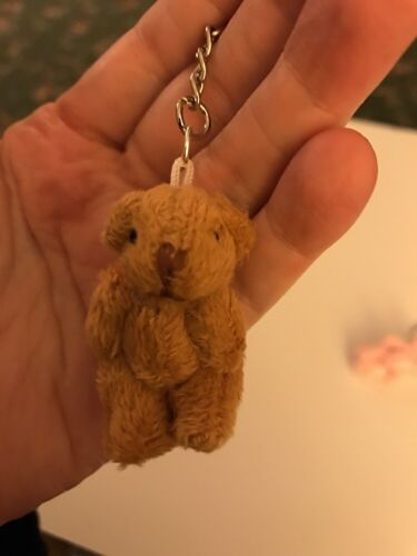 Miniature Teddy Bear Little Ted Brown Keyring
