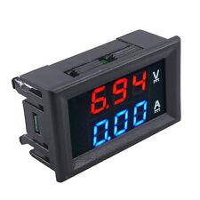 DC 100V 10A Voltmeter Ammeter Blue+Red LED Dual Digital Volt Amp Meter Gauge New
