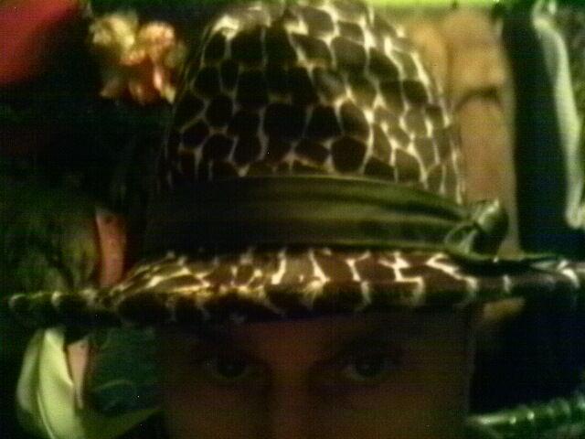 VINTAGE NOUVEL LEOPARD CALFSKIN FUR BLACK LEATHER TRIM HAT GIRAFFE PRINT FEDORA