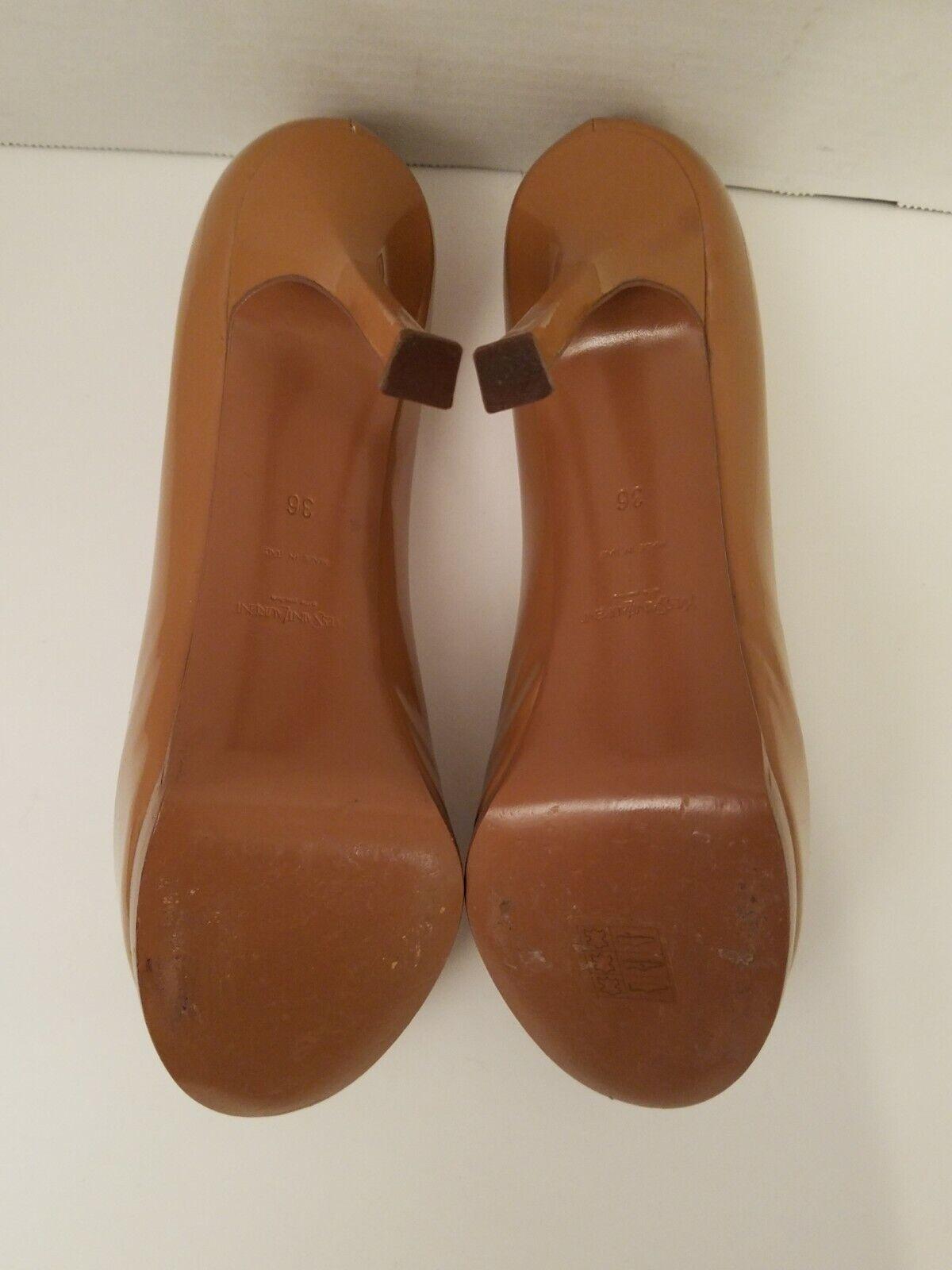 YSL Tribtoo Nude Patent Leather Platform Pumps 6/… - image 7
