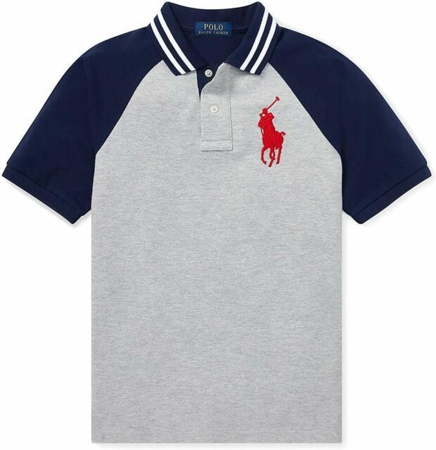 NWT Ralph Lauren Infant Boys SS Green Big Pony Mesh Polo Shirt Sz 3m 6m 9m NEW