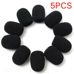 5PCS-Microphone-Headset-Grill-Windscreen-Sponge-Foam-Black-Mic-Cover-HO