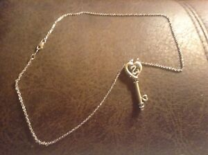 Kay Jewelers Jane Seymour Open Heart Sterling Diamond Key Pendant