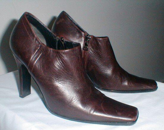 Prada Marrón Cuero Cuadrado Toe shootie botaie botaie botaie Prada Talla 36 EE. UU. Talla 6 M  precios mas baratos