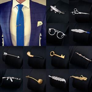 Hommes-Metal-Tie-Clip-Bar-cravate-broches-Fermoir-Pince-Mariage-creatifs-Charme-Cadeau-Fantaisie