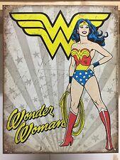Wonder Woman Heroic Officiall DC Comic Vintage Retro Metal Tin Sign Poster Decor