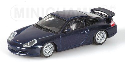 Porsche 911 gt3 1999 bleu Metallic 1 43 Model MINICHAMPS
