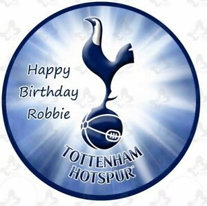 Cool Tottenham Hotspurs Fc Spurs Cake Image Icing Birthday Personalised Funny Birthday Cards Online Alyptdamsfinfo