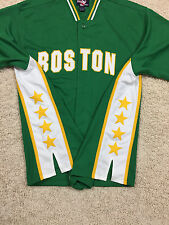 Vintage BOSTON CELTICS Sewn Warmup Jacket Shirt Men's L NBA